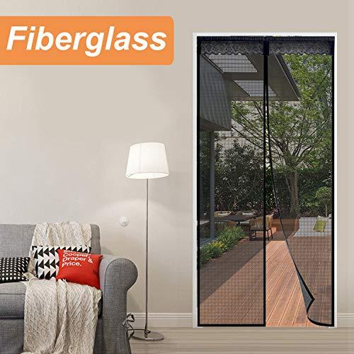 """Reliancer Fiberglas-Magnetic-Schirm-Tür Großer Magnet Terrasse Doppel Tür-Ineinander greifen-Vorhang 72 """"X80"""" Für Französisch Türöffnung bis zu 70"""" X79"""" W/Full Frame 36 * 80"""
