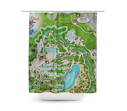 Queen of Cases Blizzard Beach Map - Duschvorhang in 4 Größen