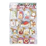 BESTOYARD Mini Tarjetas de Felicitación para Navidad Tarjetas Decoraciones Colgantes Navideñas 160 Piezas