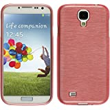 PhoneNatic Samsung Galaxy S4 Hülle Silikon rosa brushed Case Galaxy S4 Tasche Case