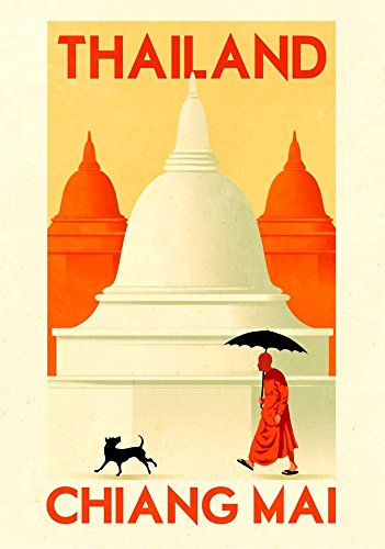 thailand-chiang-mai-wonderful-a4-glossy-art-print-taken-from-a-rare-vintage-travel-poster