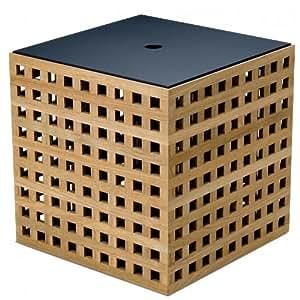 Skagerak Hide Box - Boîte de rangement, teck 38x38x38,5cm avec couvercle