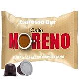 CAFFE' MORENO 100 CIALDE CAPSULE MISCELA ESPRESSO BAR COMPATIBILITA' NESPRESSO