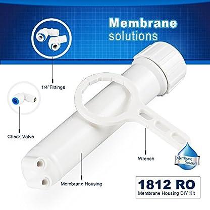 ROMembrana Vivienda, Membrana Solutions 18″x 12″ Reverse Osmosis Membrance Carcasa con Todos los accesorios y llave para 50/75GPD Membrana