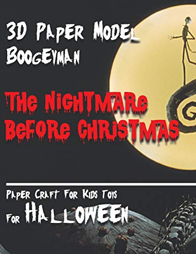 yman The Nightmare Before Christmas Paper Craft For Kids Toys  For Halloween: Interesting Puzzle For Your Child.  Toy For Home Decor For The Night of All Saints. ()
