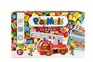 PlayMais 160442 - Bastelset Divertida de Aprender, camión de Bomberos, Colorido