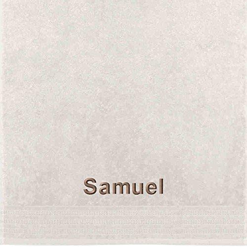 Erwin Müller Handtuch mit Namen Samuel Bestickt Creme Größe 50x100 cm (Samuel Creme)