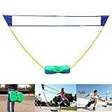 Global Brands Online 3 in 1 Outdoor Sport Badminton Tennis Volleyball Netz Tragbarer Ständer Battledore Set