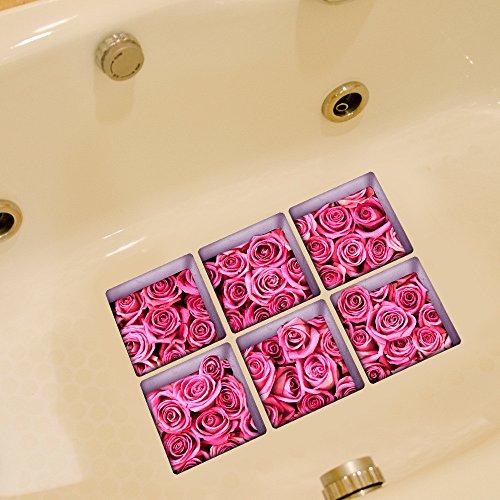 n/Dekoration/Aufkleber 3D/Badewanne/Non-Slip/Sticker/Scrub/wasserdicht/Home/Bad/Sticker/selbstklebend/Rose/Badewanne Aufkleber (Halloween-scrubs)