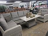 Gartenmöbel Eckbank Soho Beach Lounge 3 Sofas 1 Tisch höhenverstellbar