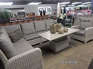 gartenm bel eckbank soho beach lounge 3 sofas 1 tisch h henverstellbar k che haushalt. Black Bedroom Furniture Sets. Home Design Ideas