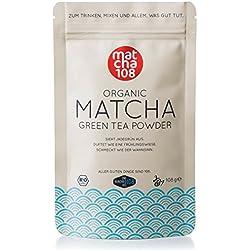 Matcha 108-108g Matcha Tee in Premium Qualität/Grüner Tee aus kontrolliertem Bio Anbau - Ceremonial Grade - Grüntee-Pulver ohne Zwischenhandel