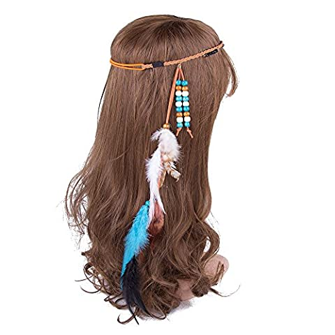 Gypsy Halloween Costumes Pour Les Femmes - AWAYTR Hippie Gland Bandeau plume Coiffure Coiffure