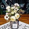 Artificial Flowers Thé Fausse Rose de Fleurs de Soie Automne Gerbera Artificielle Fleur en Plastique for Le Mariage Accessoires Décoration Décor Chambre