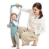 Arnés de Seguridad para Caminar Ajustable Arnés de Bebe a Pie de Caminado Aprendizaje Chaleco Arneses para Niños Andador Arnés Tirantes Con Correa y Hebilla de Bebé Protección 8-24 meses, Verde