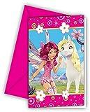Procos 8249 - Mia and Me Einladungskarten mit Umschlägen, 6 Stück