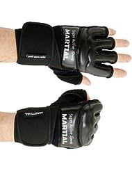 Gants boxe MMA professionnelle de haute qualité professionnelle et fabrication raffinée - boxeur, noirs, sac de frappe, sport de combat