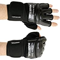 Super Active Sports NEWSASMMAGL, MMA Handschuhe Profi von MARTIAL - professionelle Qualität - hochwertige Konstruktion - Boxen, Training, Sandsack, Boxsack, Freefight, Grapling, Kampfsport - Schwarz - Boxhandschuhe