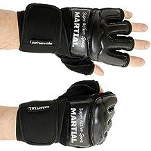 Guantes de boxeo MMA profesionales – calidad profesional – estructura de alta calidad – boxeo, entrenamiento, saco de boxeo, saco de boxeo de arena, freefight, grappling, deporte de combate – negro – guantes de boxeo