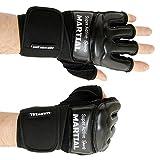 Купить MMA Handschuhe Profi - professionelle Qualität - hochwertige Konstruktion - Boxen, Training, Sandsack, Boxsack, Freefight, Grapling, Kampfsport - Schwarz - Boxhandschuhe