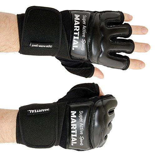 MMA-Handschuhe-Profi-professionelle-Qualitt-hochwertige-Konstruktion-Boxen-Training-Sandsack-Boxsack-Freefight-Grapling-Kampfsport-Schwarz-Boxhandschuhe