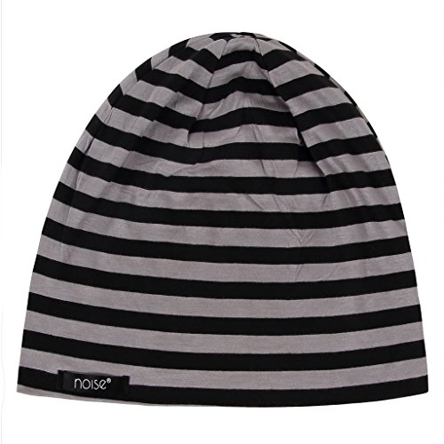 4bee62d0d5c 33% OFF on Noise NOICAP-BLK-GRY-STRIPED Striped Polyester Beanie ...