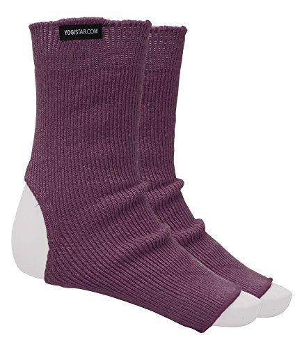 YOGISTAR Yoga-Socken elderberry - Wolle (Damen Farbton Socken)