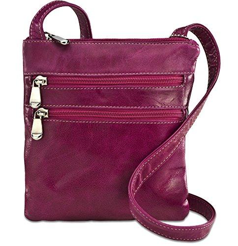 david-king-co-florentine-3-zip-cross-body-tasche-3734-fuchsia-pink-3734f