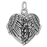 schmuxxi Herz Medaillon Anhänger zum Öffnen mit Flügel 925 Sterling Silber für Damen und Mädchen