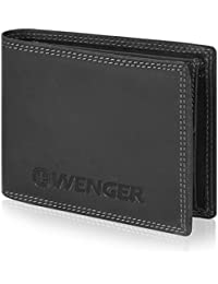 Wenger Wallet Men Landscape Leather 12,5 cm with tri-fold Slot and Zipper compartment