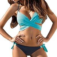 Luckycat 2018 Seaside Beach Colorful Choose Womens Sujetador Push-up Acolchado Bikini Set Traje de baño Traje de baño Traje de baño Ropa Interior 2 Piezas Ropa Interior Plus Briefs