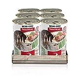 BEWI DOG Fleischkost reich an Wild [400 g] Dose | Nassfutter für Hunde | getreidefrei | sortenrein | Muskelfleisch & Innereien mit fester Fleischstruktur