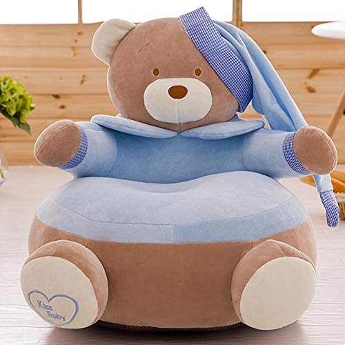 Vidsdere Plüschtier Kindersofa, Baby Cartoon Kinderstuhl Krone, Prinz Prinzessin Mini Stuhl Sitz mit Reißverschluss, J, 24 * 24in