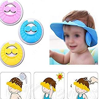 Arpoador Children Shampoo Baby Shower Cap Baby Bath Cap Adjustable size,Children Kids to Keep the Water Out of Their Eyes,Face and Ears,Random Color