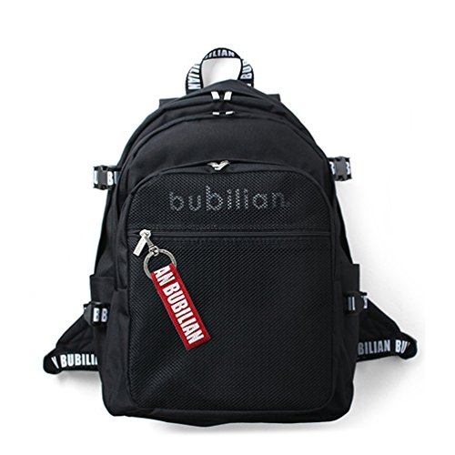 Bubilian BTBB 3D Backpack/Korean Street Brand/School Bag/Travel Bag (Black (red)) - Schwarzen Rädern Rollende Rucksack