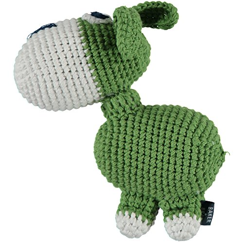 Baker & Bray Knitted Esel Quietschendes Hundespielzeug, Grün