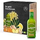 Kloster Kitchen CúrcumaTRINK Bigshot - Shots de jengibre y cúrcuma, 6 botellas de 250 ml, 12 shots en una botella de vidrio,