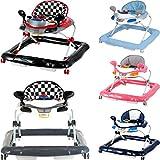 Lauflernhilfe Racer mit Spielcenter (5 Melodien) Gehfrei Gehhilfe Baby Walker in 5 verschiedenen Farben (Schwarz / Rot)