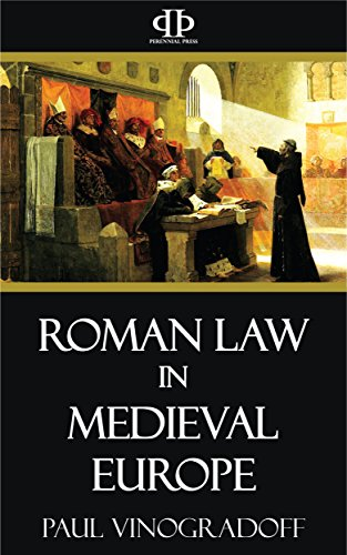 Roman Law in Medieval Europe book cover