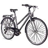 CHRISSON 28 Zoll Citybike Damen - City One anthrazit