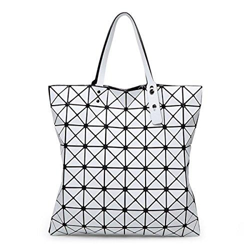 Damen Nashörner Handtasche Mode Persönlichkeit Gezeiten Lässig Damen Schulterbeutel Farbe Draußen Einfach Luxus Gehobene Tasche White