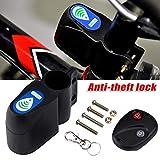 Remaxm - Candado para Bicicleta (antirrobo, Bloqueo para Bicicleta, Control Remoto inalámbrico, Alarma de vibración)