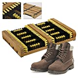 CostMad Heavy Duty Shoe Boot Trainer Wellies Welly Brush Scraper Outdoor Door Step Cleaner Brushes Mat Bristles Clean Mud Dirt Grass Snow