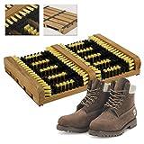 CostMad, spazzola raschietto per scarpe, stivali, scarponcini e calzature ad alta potenza, spazzole pulitrici per scarpe da esterno, puliscono fango, sporco, grasso e neve