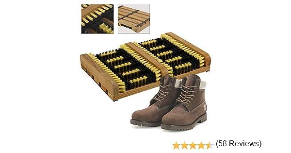 CostMad r/ésistant Chaussures Bottes en caoutchouc de bottes brosse grattoir pour ext/érieur pas de porte pinceaux Tapis de gazon poils Nettoyer La salet/é de boue neige