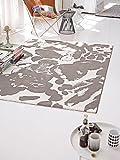 Belebender Esprit Marken Teppich, hochwertig im zeitlosen Design in knalligen Farben, Energize (133 x 200 cm, grau/weiß)