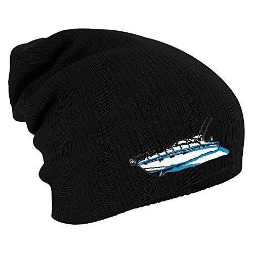 Longbeanie Slouch-Beanie Mütze Yacht Schiff 55240 Farbe schwarz