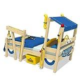 WICKEY Kinderbett 'CrAzY Sparky Max' im Polizei-Look - Einzelbett aus Massivholz - 90x200 cm