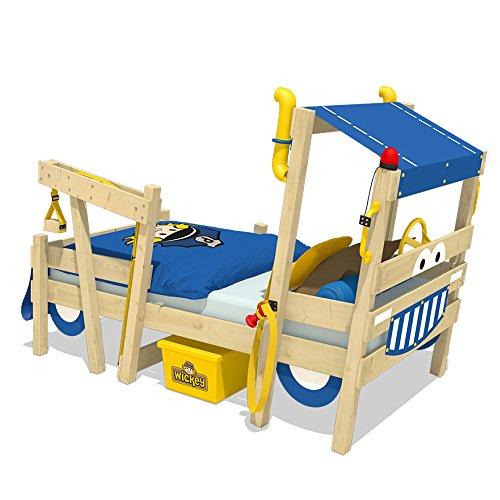 WICKEY Kinderbett \'CrAzY Sparky Max\' im Polizei-Look - Einzelbett aus Massivholz - 90x200 cm