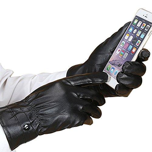 Handschuhe, Gloves, Lederhandschuhe, Herren Handschuhe Outdoor Handschuh Gloves Sporthandschuhe geeignet für Motorräder Skifahren Warme Handschuhe (Harren)